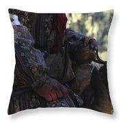 Seminole Horseman Throw Pillow