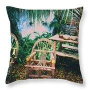 Seminole Indian Made Outdoor Furniture Throw Pillow
