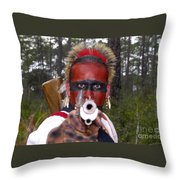 Seminole Warrior Throw Pillow