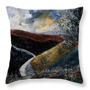 Semois Valley Throw Pillow
