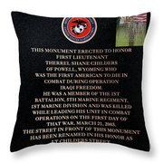 Semper Fi To The 1st Man Down In Iraqi Freedom Plaque Throw Pillow