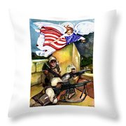 Semper Fideles -  Iraq Throw Pillow