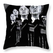 Senator Gene Mccarthy  Miami Beach Florida 1972 Collage Created In  2013 Throw Pillow