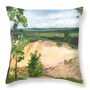 Send Dunes With A Farm House Throw Pillow