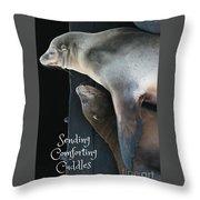 Sending Comforting Cuddles Throw Pillow