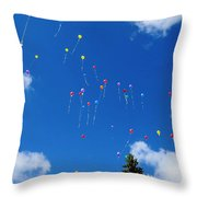 Sending Love Notes To Heaven Throw Pillow