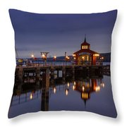 Seneca Lake Reflection Throw Pillow