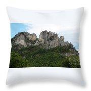 Seneca Rocks Wv Throw Pillow