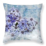Senecio Maderensis Throw Pillow