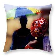 Senegal Sunbrella No 2 Throw Pillow