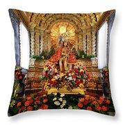 Senhor Bom Jesus Da Pedra Throw Pillow