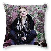Senior Portrait Throw Pillow