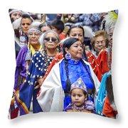 Senior Traditional Women Throw Pillow