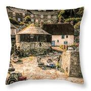 Sennen Cove Cornwall Throw Pillow