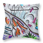 Sensing The Precipice Throw Pillow