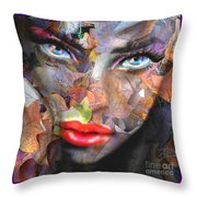 Sensual Eyes Autumn Throw Pillow