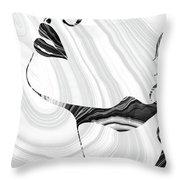 Sensual Portrait Art - Marbled Seduction - Sharon Cummings Throw Pillow