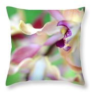 Sensual Touch Of Exotic II. Orchid II Throw Pillow