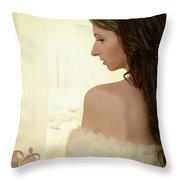 Sensual Woman Throw Pillow