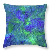 Sentimental Nature Abstract Throw Pillow