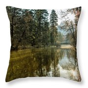 Sentinel Bridge And Half Dome In Morning Light Throw Pillow