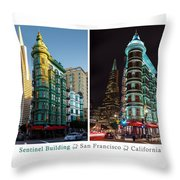 Sentinel Building Throw Pillow