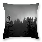 Sentinels In The Mist Throw Pillow