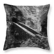 Sentry Bridge At Watkins Glen Throw Pillow