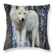 Sentry Wolf Throw Pillow