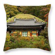 Seokguram Grotto Throw Pillow