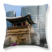 Seoul, Old And New Throw Pillow