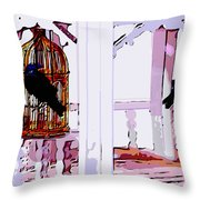 Separate Lives Throw Pillow