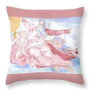 Separation Of The Planets Sistine Chapel Michelangelo Throw Pillow