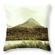 Sepia Alaska  Throw Pillow