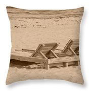 Sepia Chairs Throw Pillow