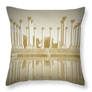 Sepia Columns Throw Pillow