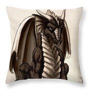 Sepia Dragon Throw Pillow
