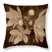 Sepia Flower Throw Pillow