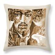 Sepia Jimi Throw Pillow