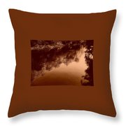 Sepia River Throw Pillow