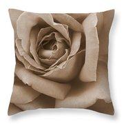 Sepia Rose Abstract Throw Pillow