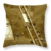 Sepia Seattle Throw Pillow