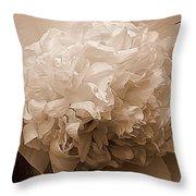 Sepia Series - Peony Throw Pillow