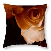 Sepia Series - Rose Petals Throw Pillow