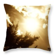 Sepia Sky Throw Pillow
