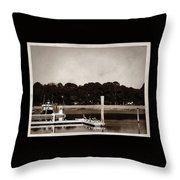 Sepia Tone Lagoon Throw Pillow