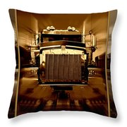Sepia Toned Kenworth Abstract Throw Pillow