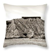 Sepia Tones Nature Landscape Nevada  Throw Pillow