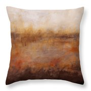 Sepia Wetlands Throw Pillow