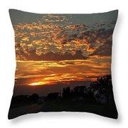 Sept Sunset Throw Pillow